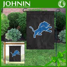 Best quality custom made 300D polyester Detroit Lions custom garden flag