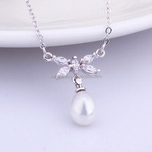 Latest gorgeous pearl necklace with platinum chain