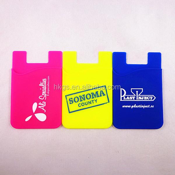 QR CODE Personalizado Titular DO Cartão De ID Titular Do Cartão de Silicone Adesiva
