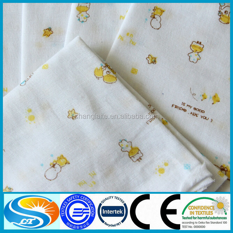 Wholesale 100 cotton patterned printed muslin fabric for Wholesale baby fabric