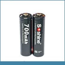 soshine tip top AA size 14500 3.2v lifepo4 lithium iron phosphate battery