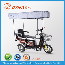 Trendy designed trike motorcycle for passengers with cover