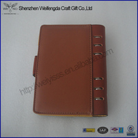 Hot Stylish A5 PU Leather Notebook Customized Leather Work Diary Covers