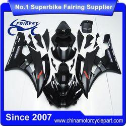 FFKYA010 China Fairings Motorcycle For R6 2006 2007 Matt Black And Gloss Black