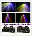 4 lente verde amarelo vermelho azul projetor laser