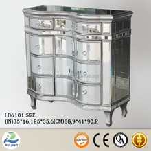 Mirrored Nightstand with Drawers