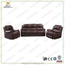 WorkWell simple design luxury leather sofa set with 6 seater kw-FU(11)A