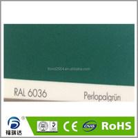 Powder paint interior glossy smooth RAL6036 pearl opal green