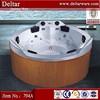 Deltar 6 person big size bathtub, round wooden bathtub price, luxury bathtub size