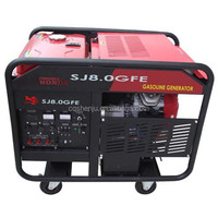 SJ8.0GXE 8KW Portable gasoline generater powered by Powered by HONDA engine with electrical starter
