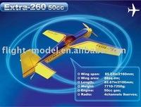 Flight model Extra-260 50CC F038 gas r/c model