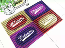 eco-friendly zebra embossed double colors stripe pvc noodle mat