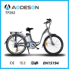 2015 hot selling electric bike Battery green city e bike woman TF262 with baby seat