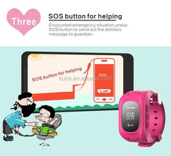 2015 gps kids tracker watch phone for baby