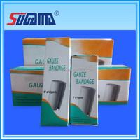 100% cotton multi size absorbent medical wound dressing gauze bandage