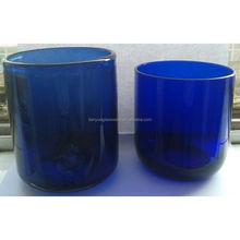 Round Cobalt Blue Glass Tea Light Candle Holder