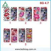 3D lip printed Tempered glass screen protector for iphone 6, for iphone 6 tempered glass protector, lip screan protector