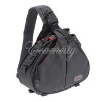 New Black Fashion Casual diagonal DSLR Camera Bag Carry Case Shoulder Messenger K1 For Nikon Sony Canon Olympus Free Shipping
