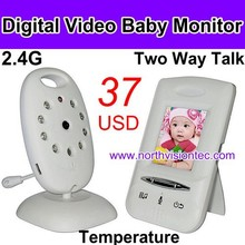 2.4G digital video baby monitor with IR nightvision and two way talk function