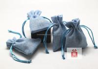 2015 cheap fashion eco Nylon linen bag for watch 7cm*7.5cm+2.5cm