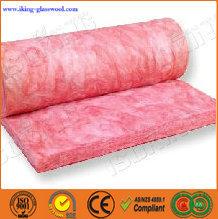 de color rosa de fieltro de lana de vidrio de aislamiento de calor