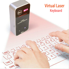 Hot Sale 2015 Full size English QWERTY Laser Keyboard Wireless Bluetooth Virtual Laser Projector Keyboard for Android iOS Tablet