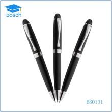 Promotional gifts metal ballpoint pen black grid gift pen for men