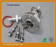 """7/8"""" EIA Flange 32mm Flange panel Connector with Extended Insulator and Pin"""