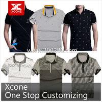 Summer brand high quality stiff collar grey cotton polo shirts