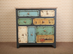 country living room cabinet solid wood cabinet Vintage cabinet