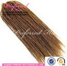 Fashionable cheap afro kinky curl synthetic hair weft hair weaving