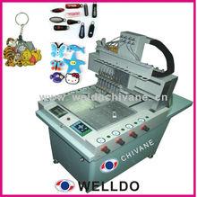 pvc rubber label/logo machine