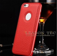 Latest design Metal Case Cover aluminum case bumper and leather for Apple iPhone 6