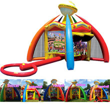 Interactive games 5 in 1 inflatable sport arena Action Shot