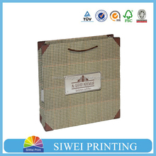 2015 wholesale decorative cardboard Eco-Friendly gift bag wrapping paper for watch