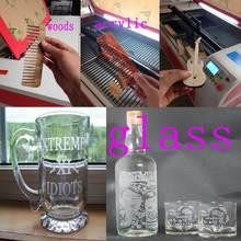 skype:wei.sara51 Factory direct Cheap Hot Sale Fabric/Acrylic/Wood/Granite CO2 Laser Cutting Engraving Machine