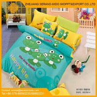 Kids cartoon printed 100% Cotton, kids bedding set, cotton bedding set