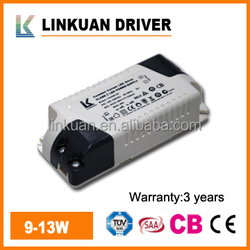 constant current led lighting driver 9-12W 320mA for LED downlight & panel light model LKAD014F