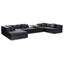 U shaped sectional sofa, big living room furniture, modular Fabric Sofa Set