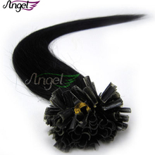Wholesale Cheap High quality 16inch 0.4g Pre Bonded Keratin Nail U Tip Hair Extensions 100% remy HUMAN HAIR