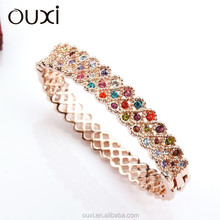 New arrival women's fashion chunky crystal bangle made with swarovski element Crystal 50043-2