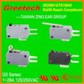 Micro interruptor t125 5e4 16a, micro interruptor de flotador, micro interruptor de cruce de referencia