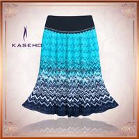 Chiffon Double - Layered Shirred Waist Skirt Black S/M/L XL XXL