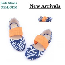 J-S0207 China Classical Flat Girls Shoes Mother and Kids Casual Shoes Blue Sandals Custom Canvas Shoes