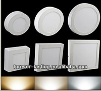 Round Square Shape Surface Mounted 6W 12W 18W light fixture led ceiling panel light