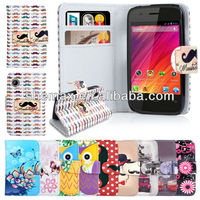 Printed Leather Wallet Case For Wiko OZZY