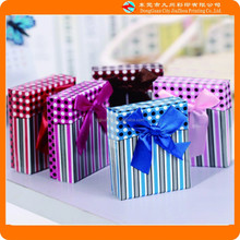 Variety of colors stripes and dots small gift box/paper box/packaging box