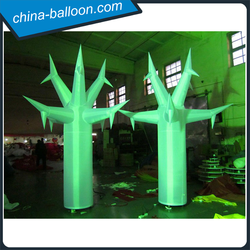 Led inflatable green cone/holiday party inflatable tree decorations