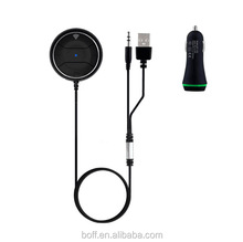 Bluetooth handsfree Car Kit Wireless Stereo Audio Music Receiver Built in Mic with Dual USB Car Charger for iPhone