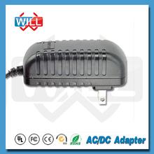 Manufactory UK USA EU plug CE ROHS AC DC interchangeable 14.4v power adapter